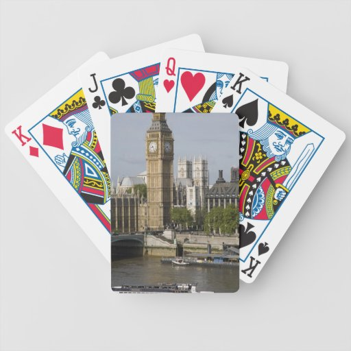Big Ben and Thames River Bicycle Poker Deck