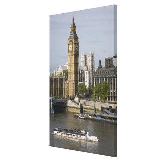 Big Ben and Thames River Canvas Print