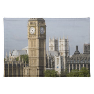 Big Ben and Thames River Cloth Placemat