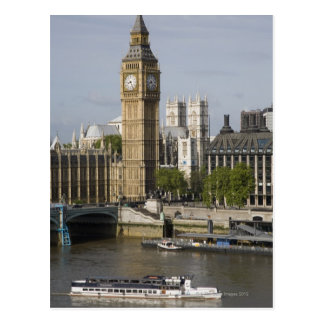Big Ben and Thames River Postcard