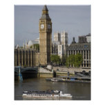 Big Ben and Thames River Posters