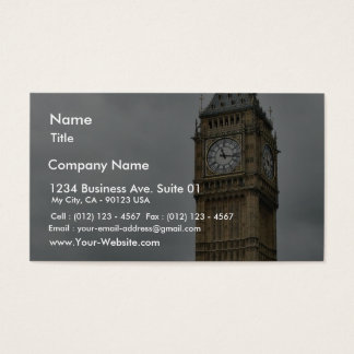 Big Ben And The Houses Of Parliament In London Business Card