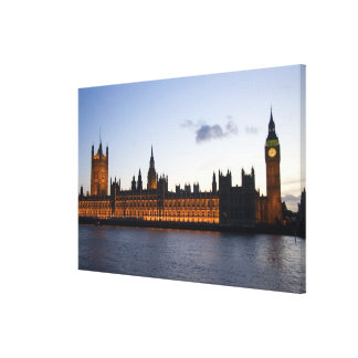Big Ben and the Houses of Parliament in the city Canvas Print