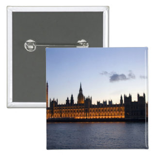 Big Ben and the Houses of Parliament in the city Pinback Button
