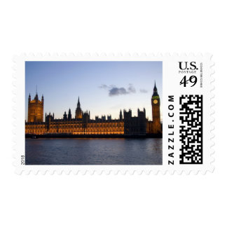 Big Ben and the Houses of Parliament in the city Stamps