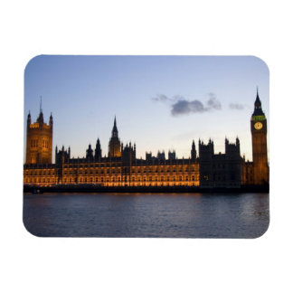 Big Ben and the Houses of Parliament in the city Rectangular Magnet