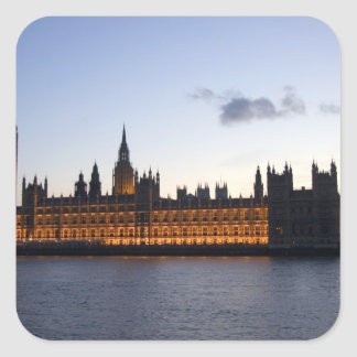 Big Ben and the Houses of Parliament in the city Square Sticker