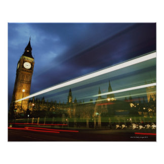Big Ben and the Houses of Parliament Poster