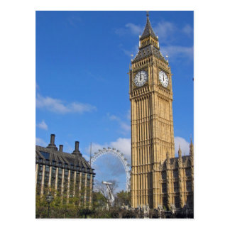 Big Ben and the London Eye Postcard