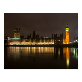 Big Ben and the parliament at night Postcard