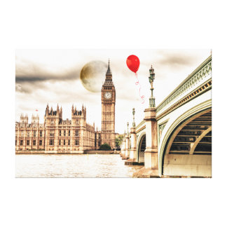 Big Ben and the Red Balloon Canvas Print