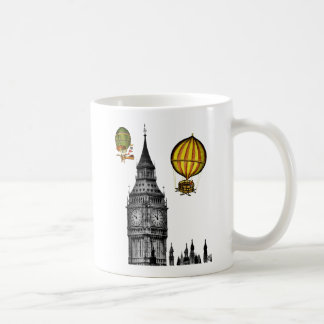 Big Ben and Vintage Hot Air Balloons Coffee Mug