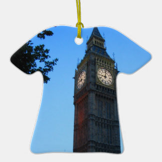 BIG BEN AT DUSK Double-Sided T-Shirt CERAMIC CHRISTMAS ORNAMENT