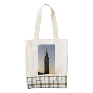 Big Ben at Sunset Zazzle HEART Tote Bag