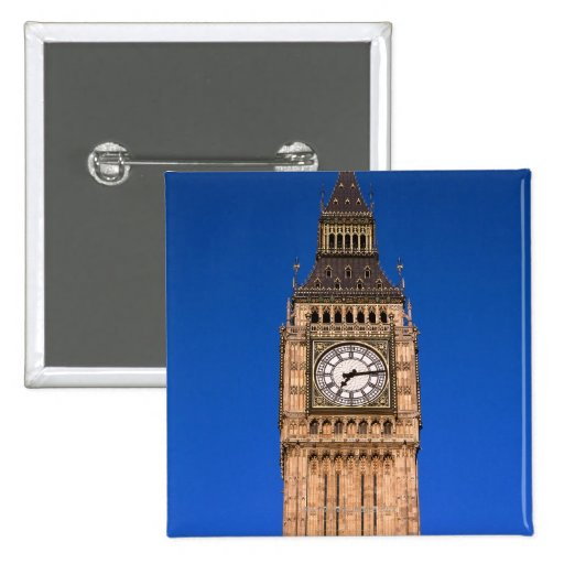 Big Ben at the British Capital 2 Inch Square Button