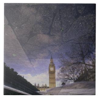 Big Ben Azulejo Cuadrado Grande