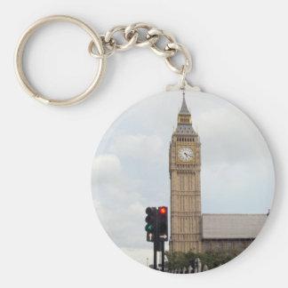 Big Ben Basic Round Button Keychain
