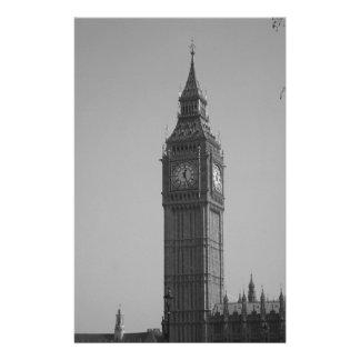 Big Ben blanco y negro Papeleria