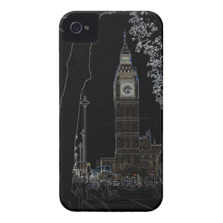 Big Ben brilla intensamente caso del iphone 4 Case-Mate iPhone 4 Protectores