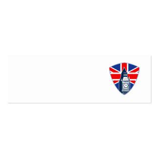 Big Ben British Flag Shield Business Card Template