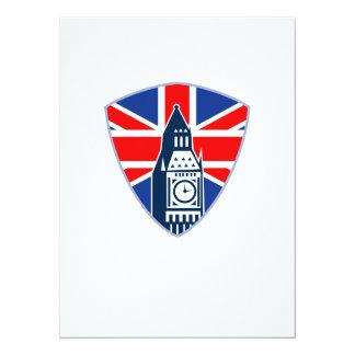 Big Ben British Flag Shield Personalized Invitation