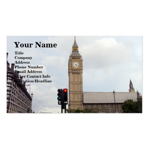 Big Ben Double-Sided Standard Business Cards (Pack Of 100)