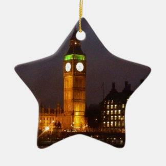 Big Ben by night Ceramic Ornament