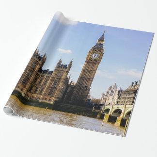 Big Ben, casas del parlamento, Londres Reino Unido Papel De Regalo