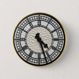 Big Ben Clock Face Pinback Button