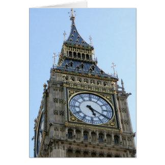 Big Ben Clock in London, England United Kingdom Card