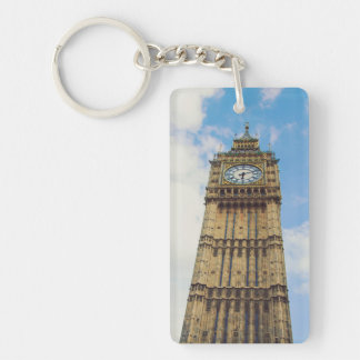 Big Ben clock, London Rectangular Acrylic Key Chain