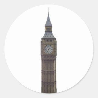 Big Ben Clock Tower: Classic Round Sticker