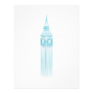 Big Ben Clock Tower Landmark Letterhead
