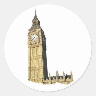 Big Ben (Clock Tower), London Classic Round Sticker