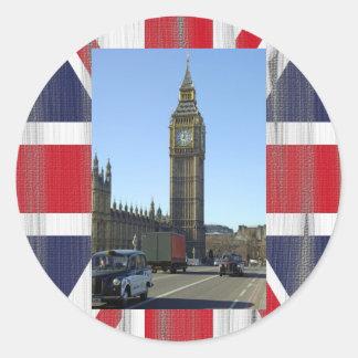Big Ben Clock Tower London Classic Round Sticker