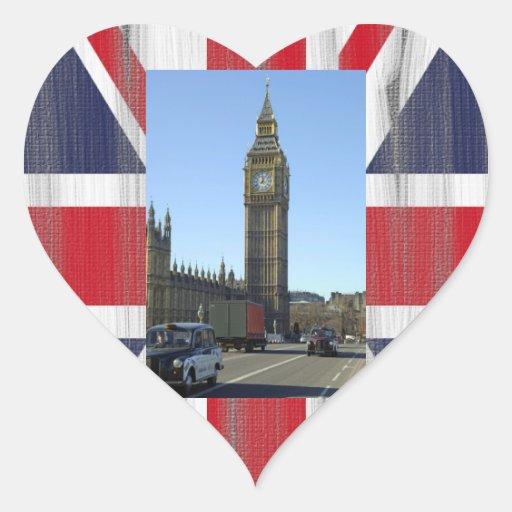 Big Ben Clock Tower London Heart Stickers