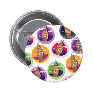 Big Ben Clock Tower Westminster Pinback Button
