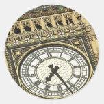 Big Ben Clockface Etiqueta Redonda