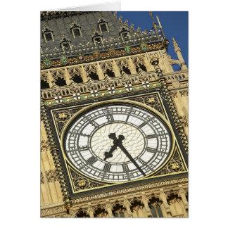 Big Ben Clockface Greeting Card
