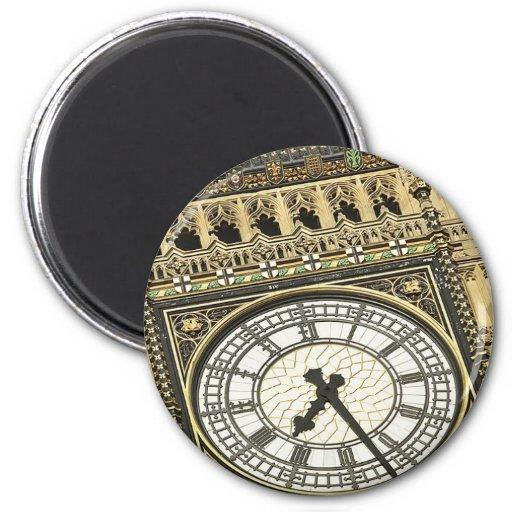 Big Ben Clockface Imán Redondo 5 Cm