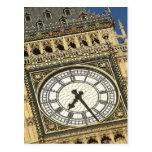 Big Ben Clockface Postcard
