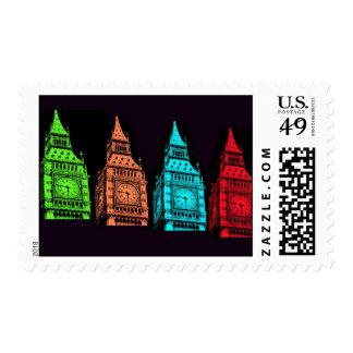 Big Ben Collage Postage Stamps