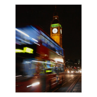 Big Ben - Double Decker Bus - London Poster