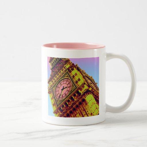 Big Ben en color Tazas De Café