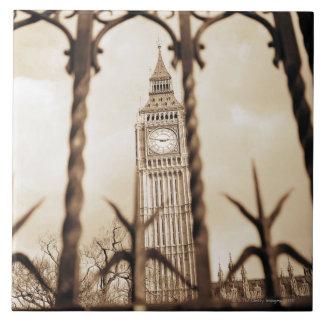 Big Ben en el parlamento, Londres Azulejo Cuadrado Grande