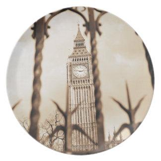Big Ben en el parlamento, Londres Plato