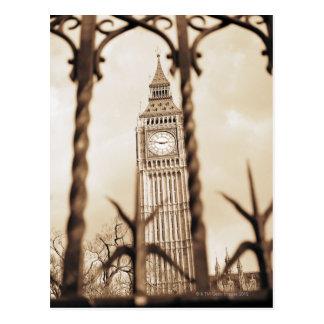 Big Ben en el parlamento, Londres Tarjetas Postales