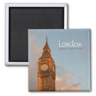 Big Ben en imán del texto de la foto de Londres