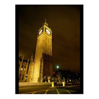 Big Ben en la noche Postales