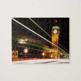 Big Ben en la noche Puzzle Con Fotos